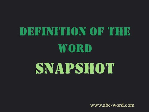 Definition of the word \