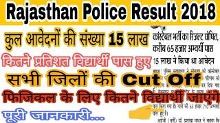 Rajasthan Police Cut Off 2018 // फिजिकल के लिए कितने विद्यार्थी जाएंगे संपूर्ण जानकारी