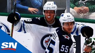 Point Shot Hits Patrik Laine In Chest, Deflects Into Net Past Ben Bishop
