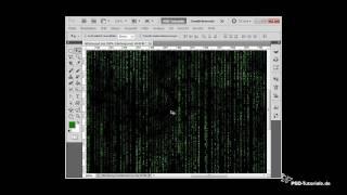 Photoshop Tutorials: Der Matrix-Effekt mit Textzeichen und Animation + verstecktem Bild
