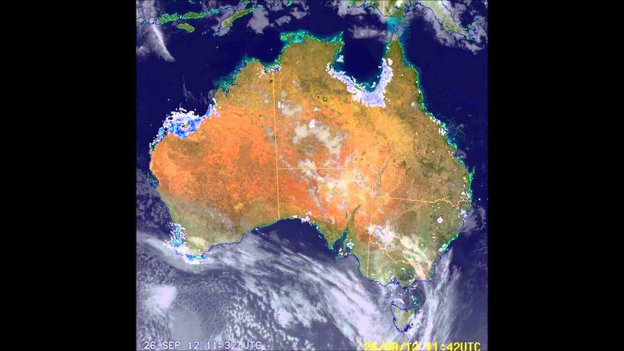 time lapse cloud surface and radar composite satellite images australia 1080p