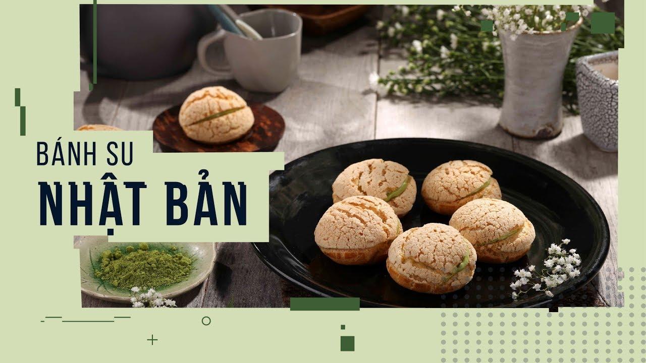 Cách làm Bánh Su Kem Trà Xanh Nhật Bản vỏ giòn, ngon chuẩn vị | Hướng Nghiệp Á Âu