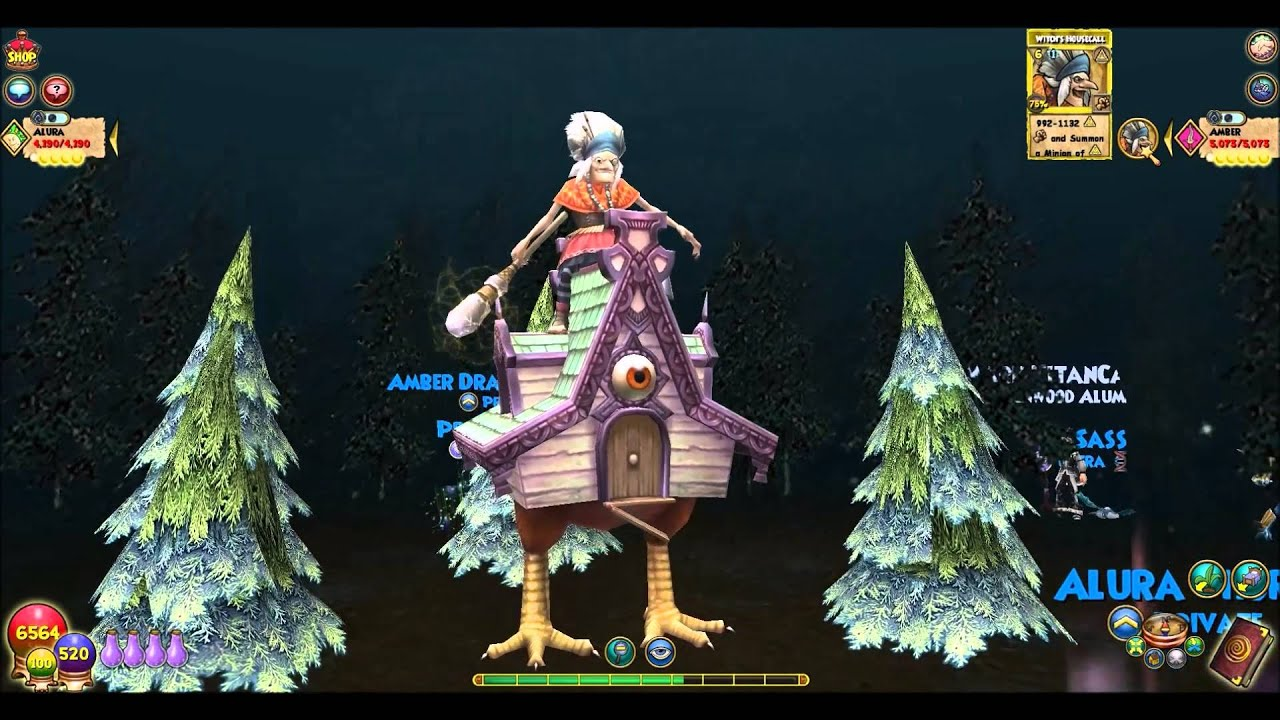 wizard101 witches housecall myth level 108 spell youtube