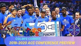 Acc Preview Basketball Rankings | Cole Anthony Earns Pre Season All American!! | Colin's Corner