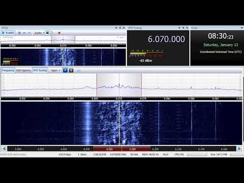 13 01 2018 Channel 292 relay Radio Waves International in English to CeEu 0830 on 6070 Rohrbach