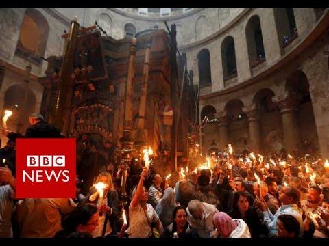 Jerusalem's Holy Fire Ceremony in 360 video - BBC News