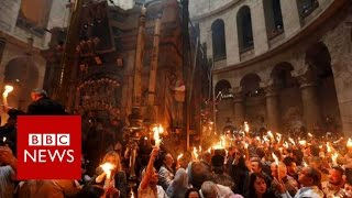 Jerusalem's Holy Fire Ceremony in 360 video - BBC News