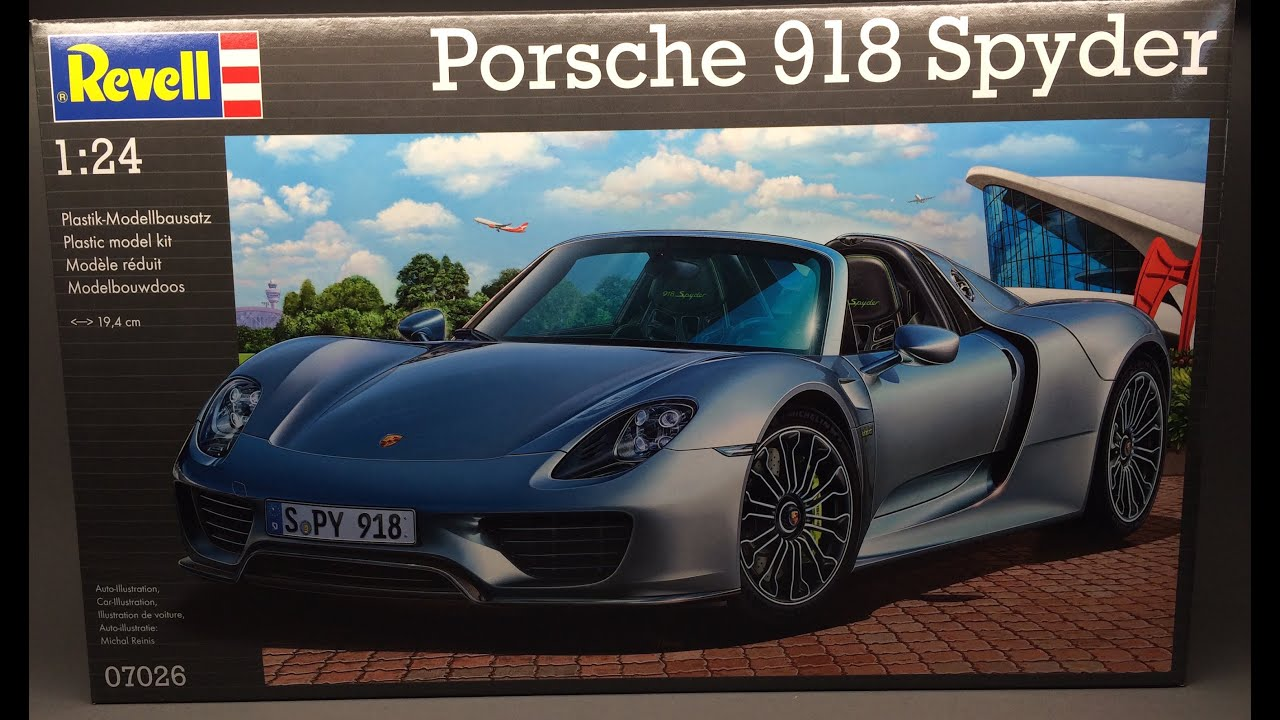 revell porsche 918 spyder unboxing youtube. Black Bedroom Furniture Sets. Home Design Ideas