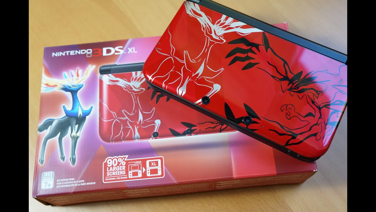 RED Nintendo 3DS XL Pokemon X and Y Bundle!!! - YouTube