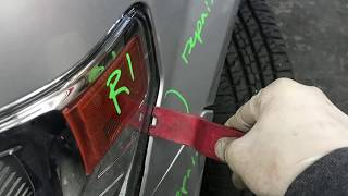 How to remove 2014 Ford F-150 XLT front bumper cover and headlights - Body Shop Basics