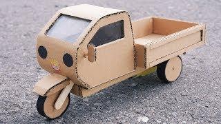 DIY Mini Pickup Truck from Cardboard