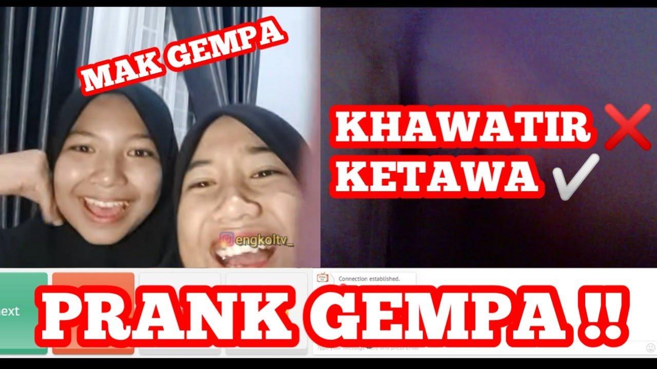 PRANK GEMPA MALAH NGAKAK ! +62 Memang Beda ! OME TV