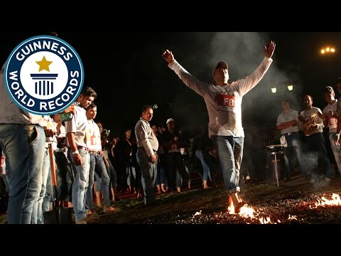 Most people firewalking consecutively – Guinness World Records