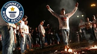Most people firewalking consecutively - Guinness World Records