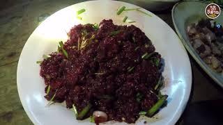 เมนูดิบๆสดๆอาหารอีสาน ก้อยควายสารคาม รสเด็ด รสแซบ(เนื้อควย)ของแซบอีสาน