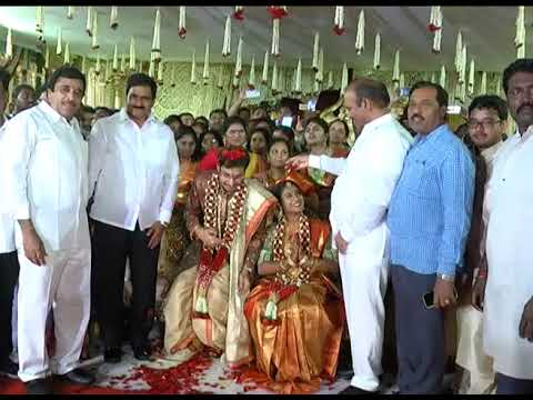 AP CM ATTENDED MARRIAGE OF DAUGHTER OF K  NARAYANA, M P AT MACHILIPATNAM ON 21122018