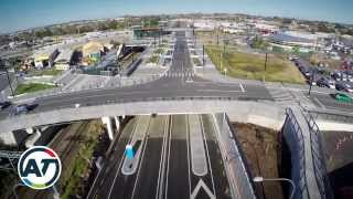The new Te Horeta Road in Panmure is open to traffic from 2 Novembe...