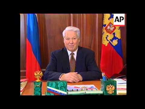 RUSSIA: PRESIDENT BORIS YELTSIN ADDRESSES NATION