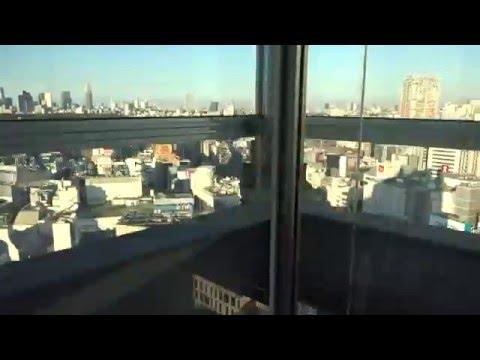 6x Amazing 1999 Mitsubishi Traction Scenic & Non-Scenic Elevators@Shibuya Excel Hotel Tokyu****