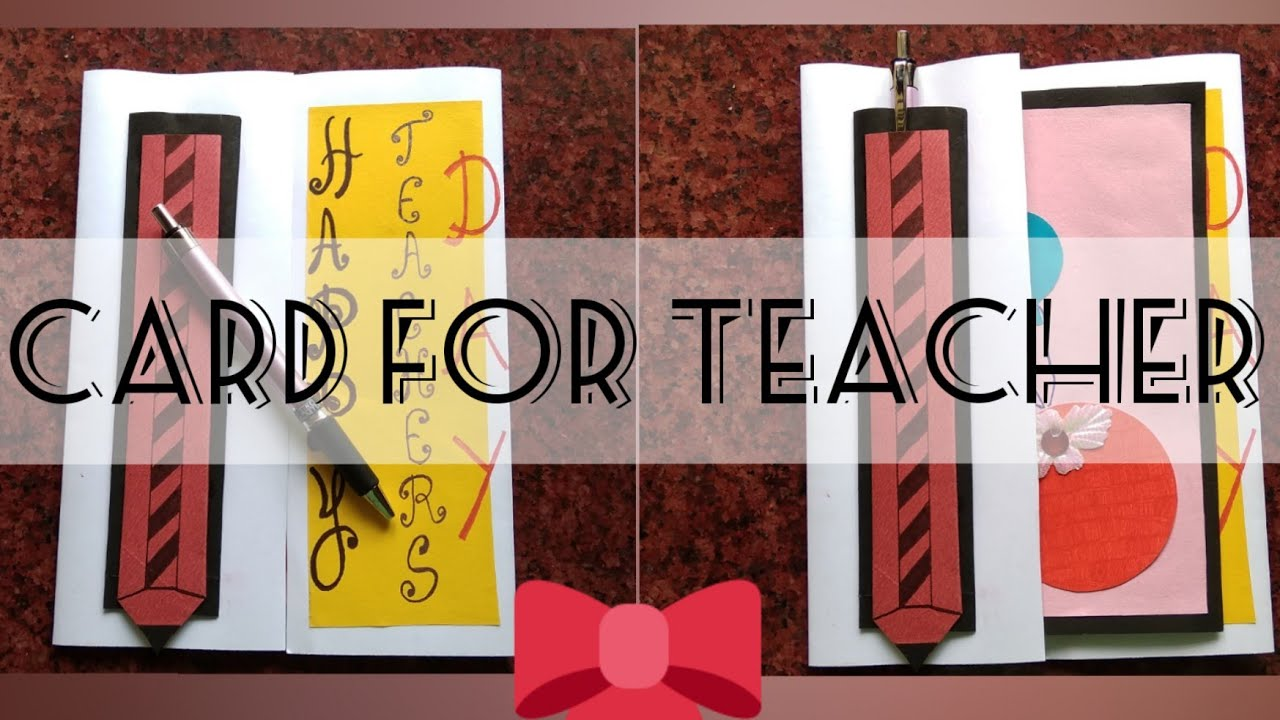 teachers day card making  special simple and easy