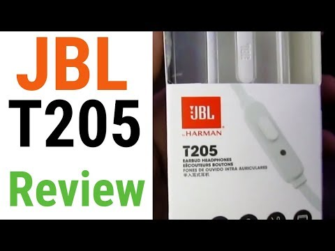 JBL T205 Wired Earphones Unboxing & Review - Unboxing Wala