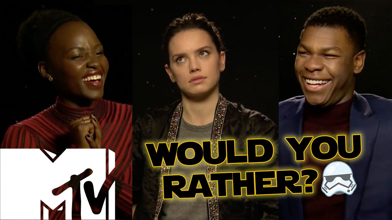 0c334a63b Star Wars: The Force Awakens Cast Play Would You Rather? Star Wars Edition!  | MTV Movies - YouTube
