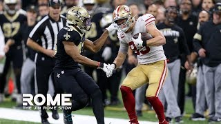 George Kittle Makes The Play Of The Year vs. Saints | The Jim Rome Show