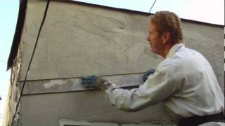 Plastering with a rapid set cement both coats same day stucco