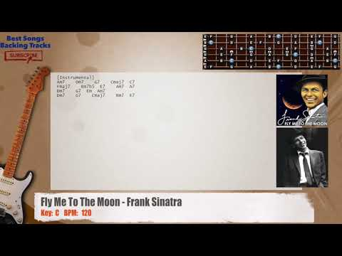 Fly Me To The Moon - Frank Sinatra Guitar Backing Track with chords ...