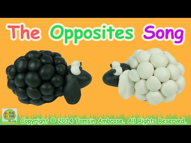 The Opposites Song ~ Antonyms ~ 110 words ~ LEARN ENGLISH ...