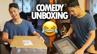 My 100k Silver Play Button Is Here! (Unboxing) - James Shrestha