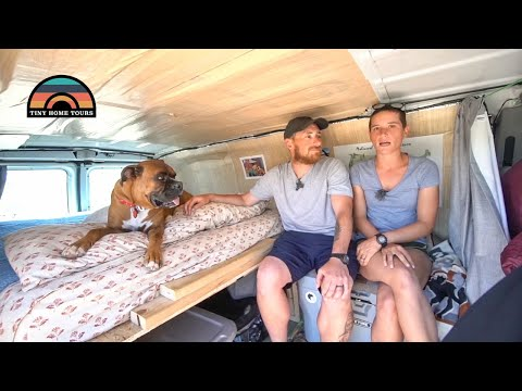 Young Couple Builds DIY Camper Van For Under $5,000 Total - Life On The Road On A Budget