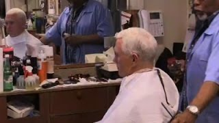 Unsuspecting Barber Gives Mike Pence a Haircut