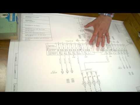 Однолинейная схема электроснабжения предприятия. Часть 2.