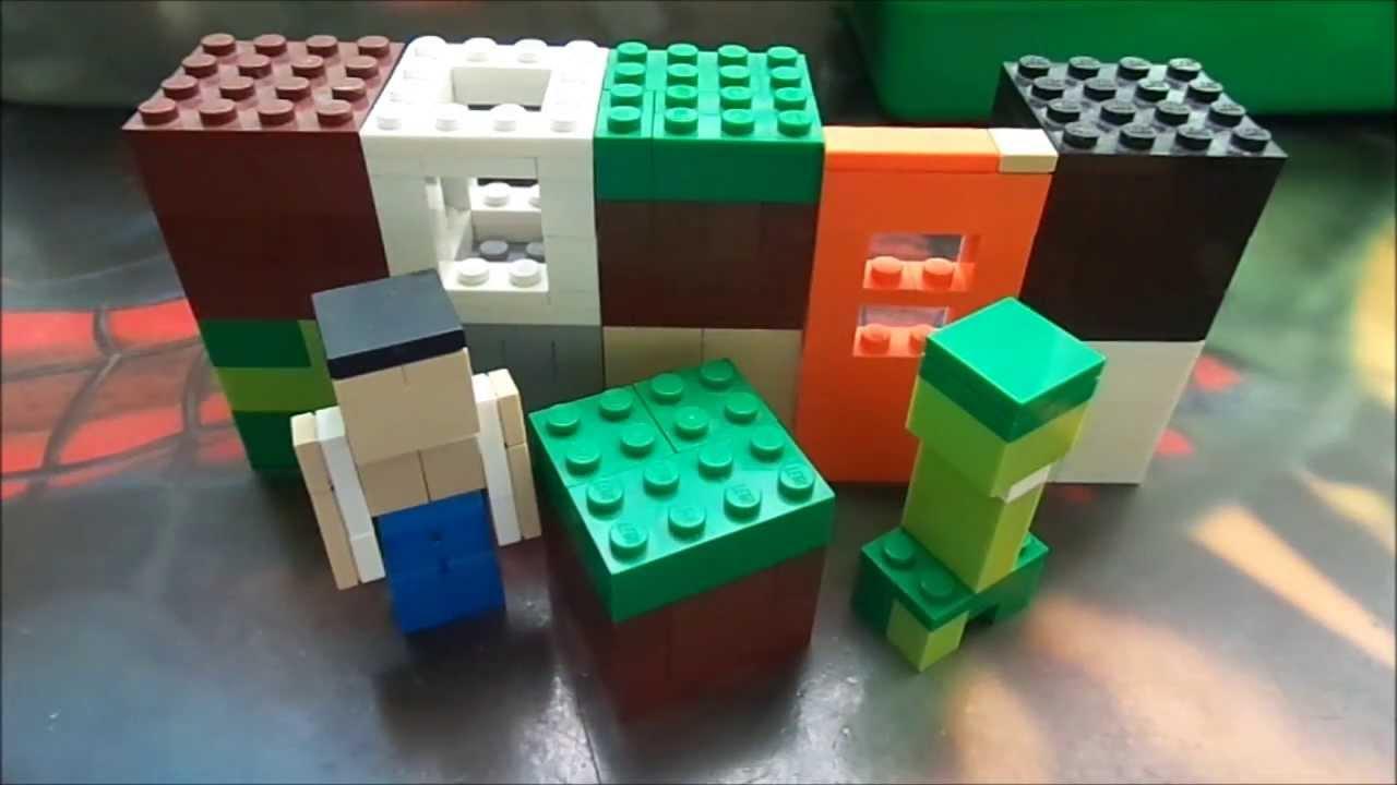 Como Hacer El Mundo De Minecraft Con Legos Mr P Youtube