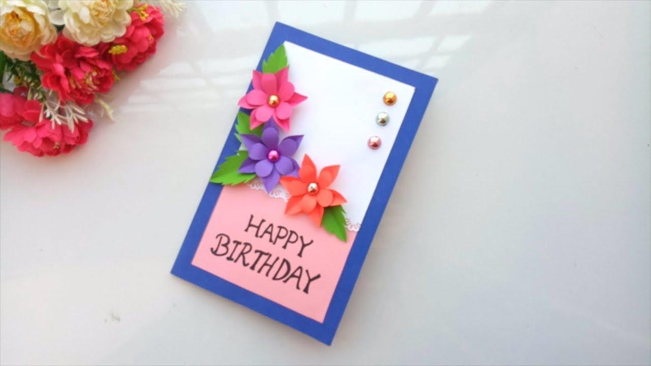 Beautiful Handmade Birthday Card Idea -DIY GREETING Cards