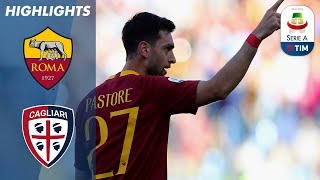 Roma 3-0 Cagliari | Roma Score Two Goals Within 10 Minutes! | Serie A