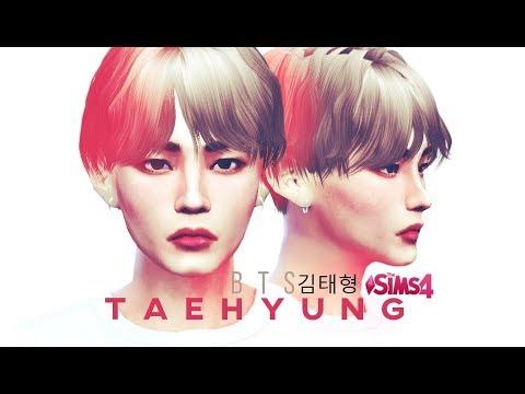 #BTS #Taehyung SIMS 4 - 김태형 Kim Taehyung (V) BTS - RECREATE ♥FULL CC LIST!♥