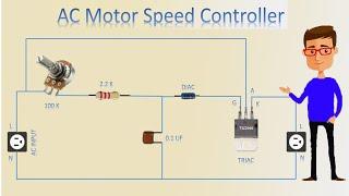 Ac Motor Speed Controller Motor Speed Control Motor Youtube