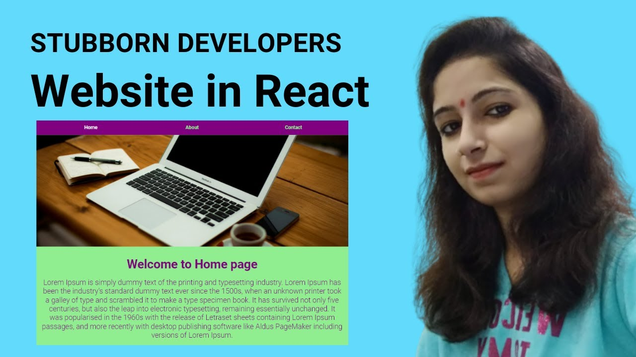 Create Website in React Js | Multiple pages in React.js in Hindi 2021