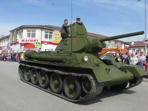 Парад 9 мая 2017.  Верхняя Пышма. Военная техника.
