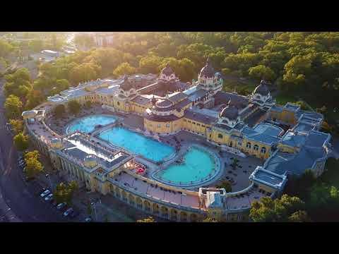 Budapest City Park with Széchenyi Bath, Zoo, Circus and Vajdahunyad Castle - 4K
