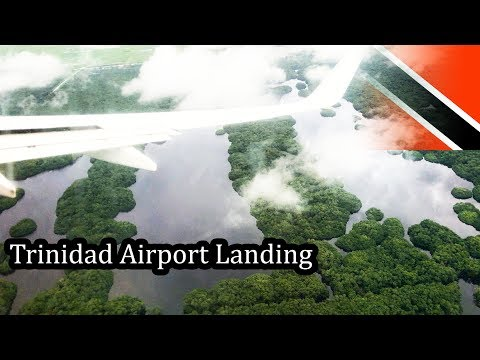 Trinidad - Airport Landing at Port of Spain POS - 4K - Sept 2017