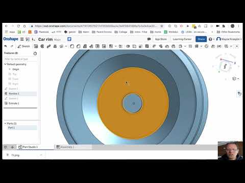 Build a Car Rim in Onshape