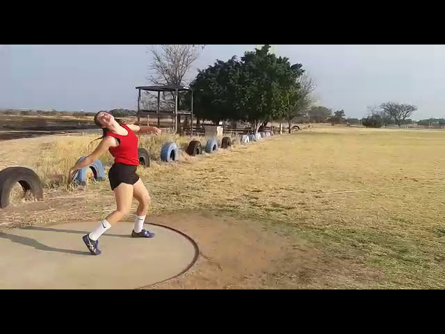 #VSA2020 Leanè Boshoff Female u/15 Diskus 41.29m 16h00 @backtracksports
