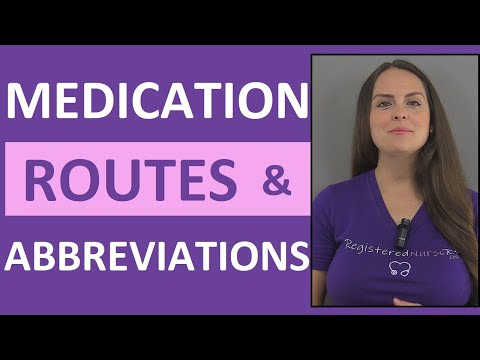 Medication Routes of Administration and Medical Abbreviations | Nursing NCLEX Review
