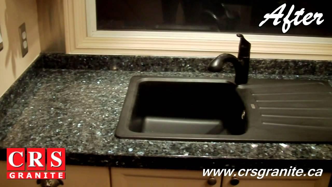 Granite Overlay By CRS Granite   Blue Pearl Granite   Discover SmartStone    YouTube