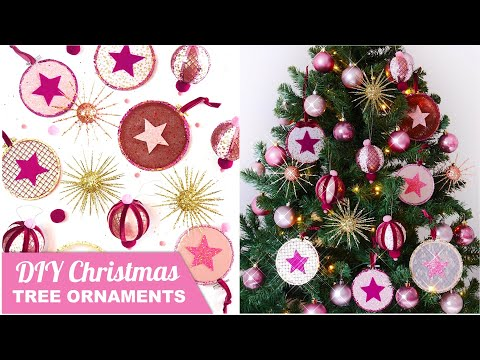 DIY Christmas Ornaments in Pink and Gold 🎄