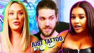 EP #2: Charlotte & Lateysha Try To Help Tom With His Stick Or Twist Decision | Just Tattoo Of Us 5