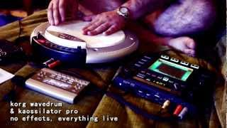 improv jam on the korg kaossilator pro and wave drum - yogastyle kharma wave